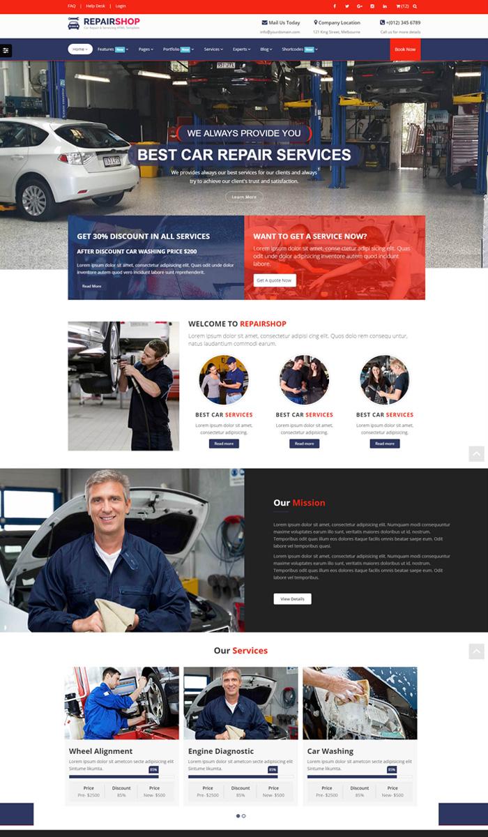 รับทำเว็บร้านซ่อมรถ เว็บอู่รถ เว็บขายรถ